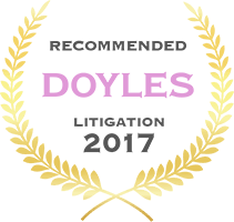 Doyles - Recommended Litigation 2017 badge