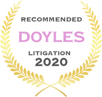 Doyles - Recommended Litigation 2020 badge